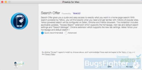 programme d'installation du module complémentaire Yahoo Search