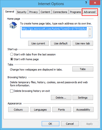 Best settings for internet options