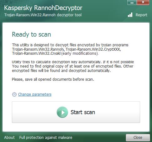 kaspersky rannoh decryptor