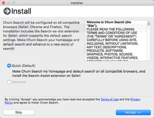 chumsearch installer
