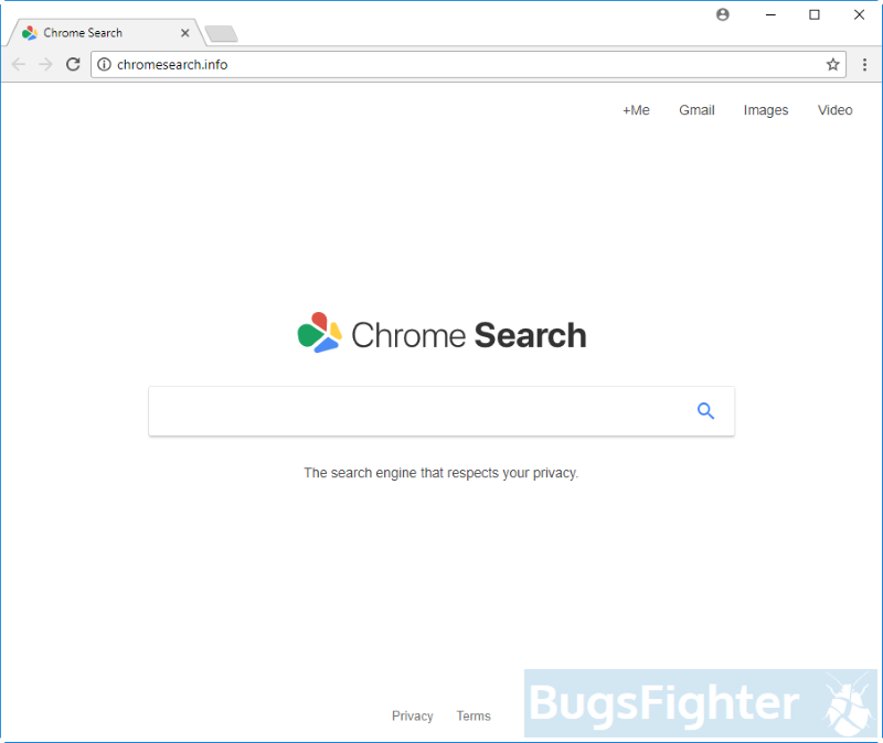 Chromesearch.info hijacker