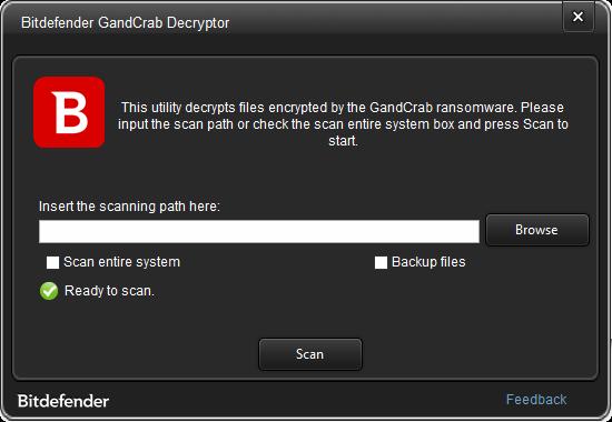 bitdefender gandcrab v3 ransomware decryptor