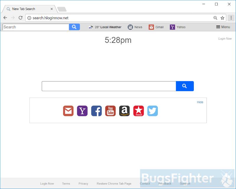 search.hloginnow.net hijacker