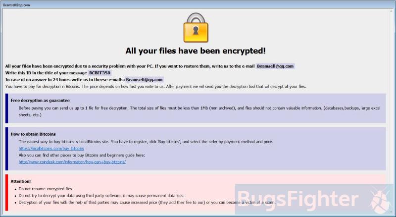 bip (dharma) ransomware